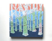 Smoky Mountain Trees mounted print - National Park-North Carolina-Tennessee  art mounted to wood