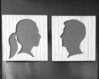Bride & Groom Wooden Silhouettes, reclaimed wood, Weddings, listing coming soon- As seen at The Not Wedding NYC