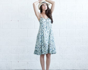Pleated Sundress - Floral.