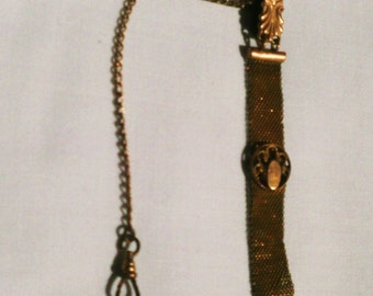 Vintage Gold Pocket Watch Fob And Chain