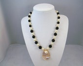 Blister Pearl Gemstone Jewelry Necklace