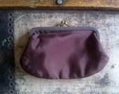 Vintage Coin Purse / Dark Brown