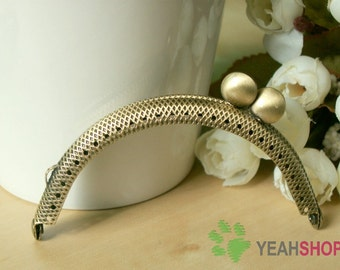 Half Round Snake Skin Cookie Purse Frame - 8.5cm / 3.3 inch (PF85-32) - Select a Color