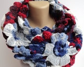 ON SALE // Women Chunky Knitted Scarf Knitted Infinity Scarf Women Knit Scarves / Gift Ideas // Gifts For Her -  senoaccessory