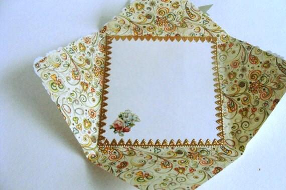 Handmade Victorian Style Card Romance Birthday Butterfly Italian Love