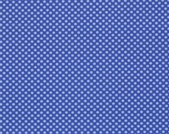 Half Yard Hello Petal Ditty Dots in Lovely Cobalt Blue, Aneela Hoey, Moda Fabrics, 100% Cotton Fabric, 18566 23