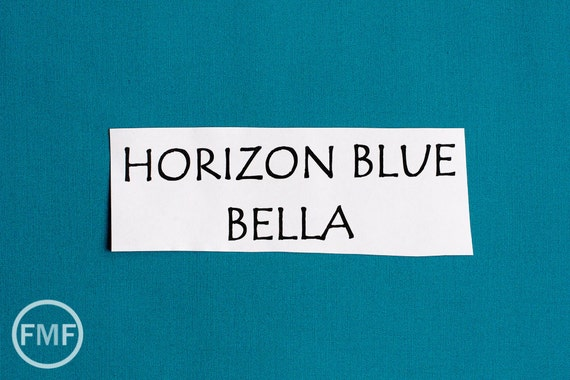 One Yard Horizon Blue Bella Cotton Solid Fabric from Moda, 9900 111