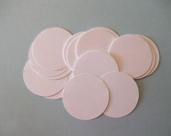 25 White Die Cut Circles 2 inches