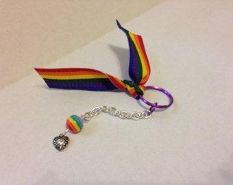 Rainbow Keychain - pride keychain