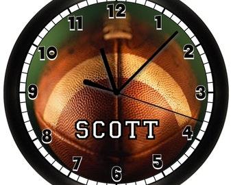 Personalized FOOTBALL WALL CLOCK