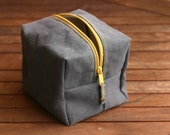 Canvas dopp kit - Canvas Toiletry - groomsman gift - Cosmetic bag - Canvas bag - dopp kit - canvas pouch - Valentine's Day