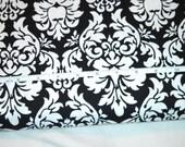 Michael Miller Dandy Damask Fabric in Black