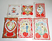 Vintage Valentine's Card Making Kit Lace Valentines Stickers 1920's Valentines