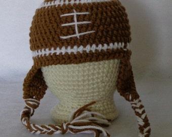 Football Hat  Newborn size Ready to Ship!!