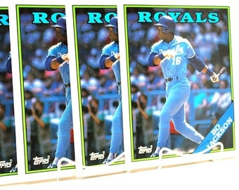 4 Bo Jackson Baseball Folders Brand New Back To School