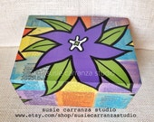 Hand Painted & Decoupaged Wood Box, by Susie Carranza