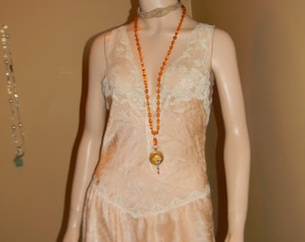 CHRISTIAN DIOR Vintage. Lingerie. French slip dress. Lace flapper style.Down Town Abby Night Gown.Nightie. Shabby Shiek DIOR.Rare Find