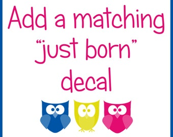 Just born monthly bodysuit iron on sticker decal transfer tie baby boy or girl