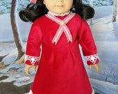 CLEARANCE SALE - American Girl doll 1880s style cotton velveteen dress