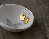 Gold Tiny Earrings Jewelry - Gift for Women - Simple Gold Vermeil Jewellery Gift