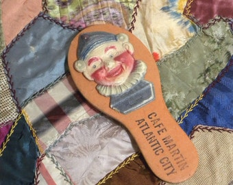 Rare Antique Advertising Toy Noisemaker Toy Clown 1900s