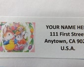 Easter Whimsical Rabbit -- Theme Package Number Three -- Return Address Label