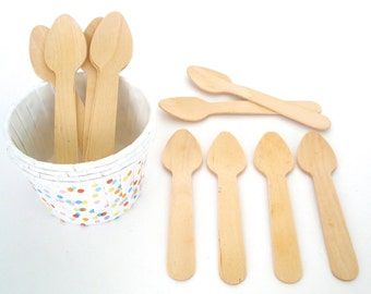 Mini Wooden Spoons Taster Wooden Spoons Ice Cream Spoons Crafting Spoons Weddings Parties Banquets Disposable Wooden Cultery Utensils