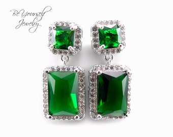 Emerald Green Earrings Angelina Jolie By Beyourselfjewelry