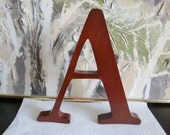 Large Wood Letter Stained Mahogany Or Cherry Like Color , A, Y, E, E, L available