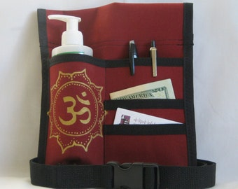 Made to Order - 4 Pocket Massage Oil Holster, LEFT Hip, Any Color, Any Hand Painted Design