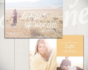 Christmas Card Template: Shine Bright A - 5x7 Holiday Card Template for Photographers