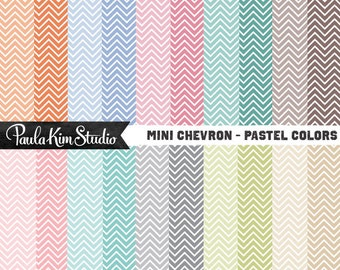 Digital Paper Chevron Clipart Background Digital Paper Pack