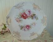 Gorgeous ViNTaGe Serving Plate  Pink Roses