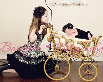 Black Flower Headband for Baby Girl, Toddler Black Flower Headband, Girls Flower Headband, Animal Print Headband, large Black Flower