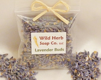 Dried Lavender Buds, French - CHOOSE QUANTITY/SIZE! Lush scent for sachets, soap making, crafting....