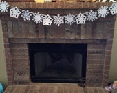 Sparkly White Snowflake Banner for Birthday Party