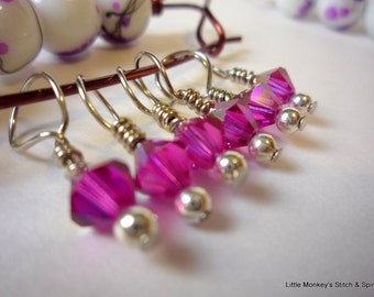 "Knitting Stitchmarkers, set of 6, ""serenade"",  up to 6.5 mm needles"