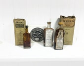 Victorian quackery medical bottles and supplies collection