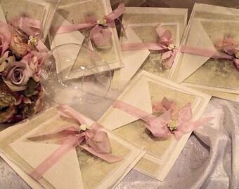 Pretty in Pink Wedding Invitation suite