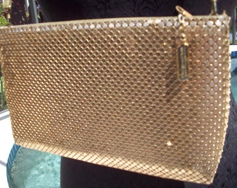 Gold Metal Mesh Handbag/Clutch by Whiting & Davis
