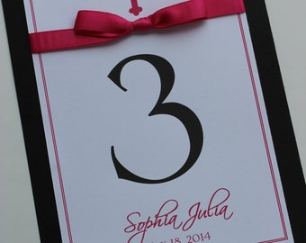 Classy Cross Girl Baptism-Communion Table Number Cards
