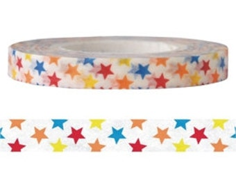 Colorful Star Washi Tape (6mm X 15M)