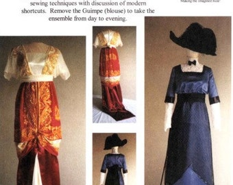 LM104 - Laughing Moon #104, 1909-1913 Edwardian Day & Evening Dress Sewing Pattern