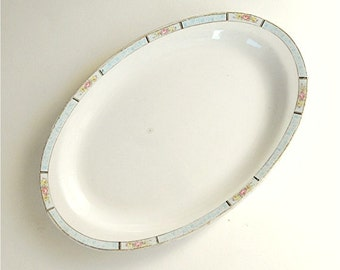 Homer Laughlin Platter, 1922 Serving Platter, Vintage Shabby Chic Tray