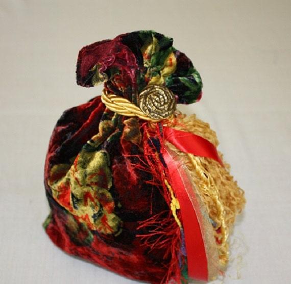 Large Tarot Bag - Bohemian Rose