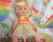 Vintage Eegee Drink and Wet Baby Doll in Sunsuit & Bonnet