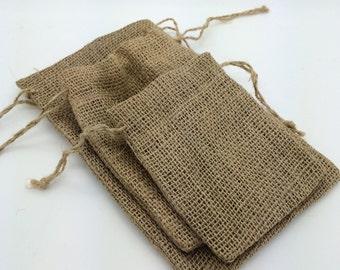 "Burlap bags natural burlap pouch party favor gift bags rustic vintage jute drawstring bags Pick Size 3""x4"", 4""X5"", 5""X6"", 5.5""x9"", or 6x14"