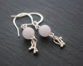 Silver Jade Kisses Earrings