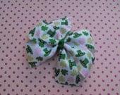 St. Patrick's Day Leprechaun Large Pinwheel Bow