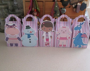 Doc McStuffins and Friends Inspired Gable Favor Boxes Set of 15